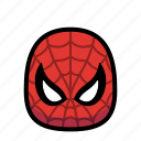 cartoon, hero, spiderman, spidey, superhero icon