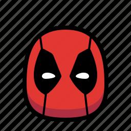 cartoon, deadpool, hero, superhero icon
