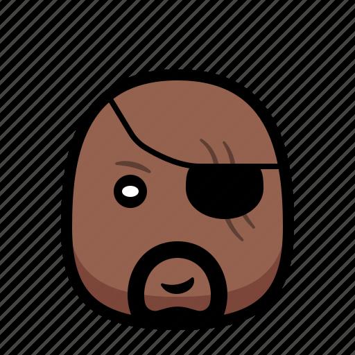 Cartoon, fury, hero, nick, superhero icon - Download on Iconfinder
