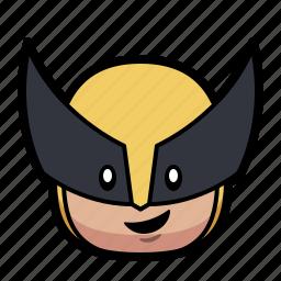 cartoon, hero, superhero, wolverine icon