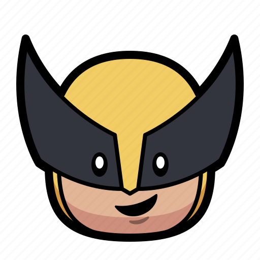 cartoon, hero, superhero, wolverine icon