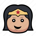 cartoon, hero, superhero, woman, wonder icon
