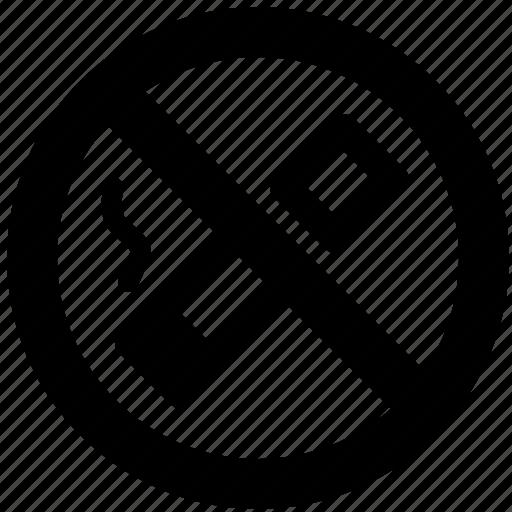 ban, block, forbidden, prevent, prohibit, smoke icon