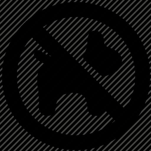 block, dog, no, pet, prevent, prohibit icon