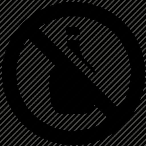 ban, block, forbidden, prevent, prohibit, wine icon