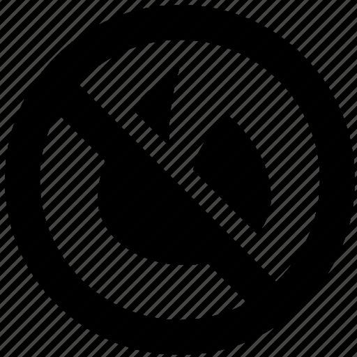 ban, block, fire, forbidden, prevent, prohibit icon