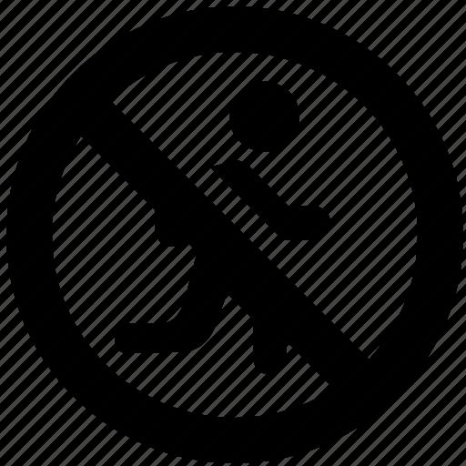 ban, block, forbidden, prevent, prohibit, run icon
