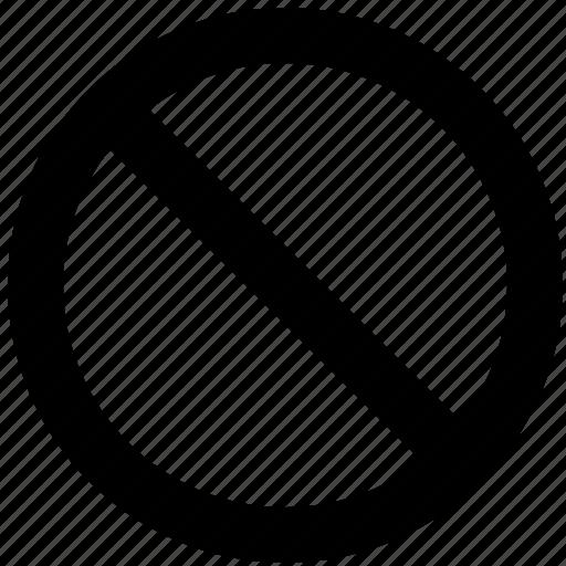 ban, block, enter, forbidden, prevent, prohibit icon