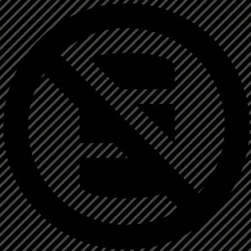 ban, block, forbidden, oil, prevent, prohibit icon