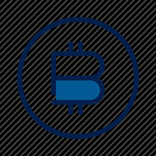 bitcoin, crypto, technology icon