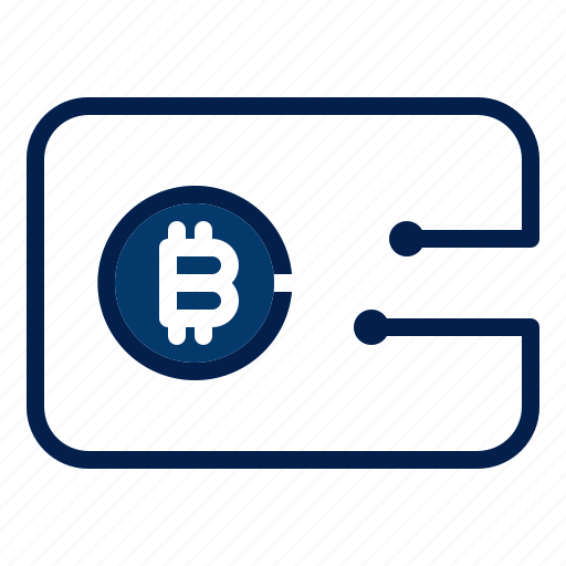 bitcoin, technology, wallet icon