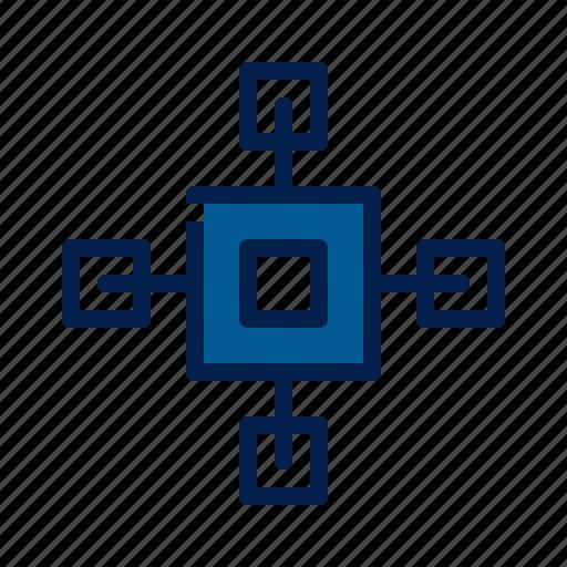 blockchain, mining, technology icon