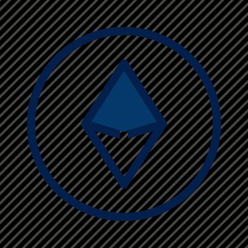 ethereum, money, technology icon