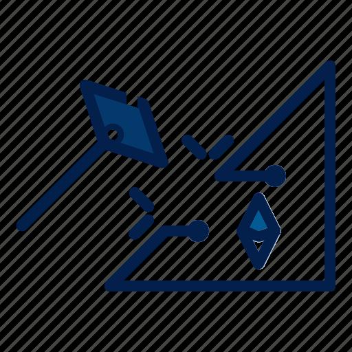 ethereum, mining, technology icon