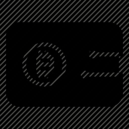 bitcoin, technology, wallet icon