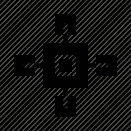 blockchain, network, technology icon