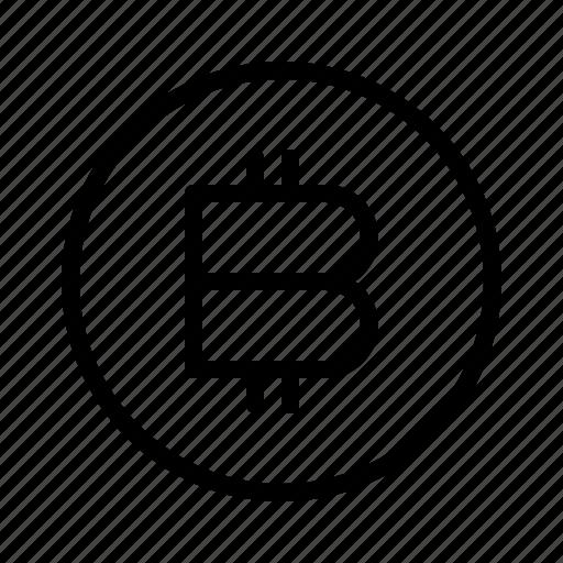bitcoin, digital, technology icon