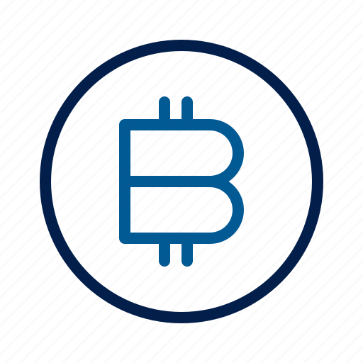 bitcoin, cryptocurrency, technology icon