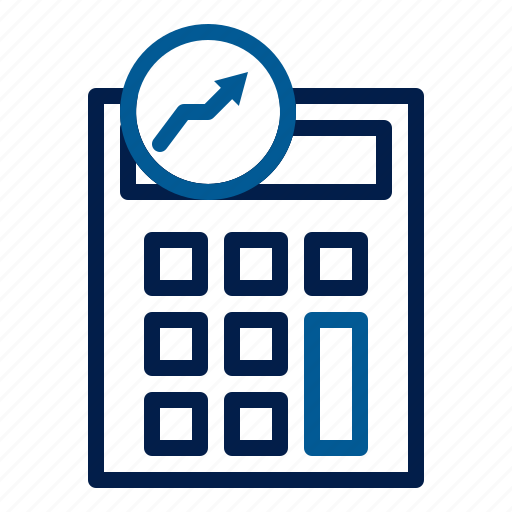 accounting, calculator, technology icon