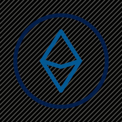 blockchain, ethereum, technology icon