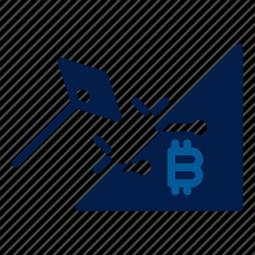 bitcoin, mining, technology icon