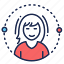 account, avatar, female, profile icon