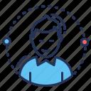 account, avatar, male, profile icon