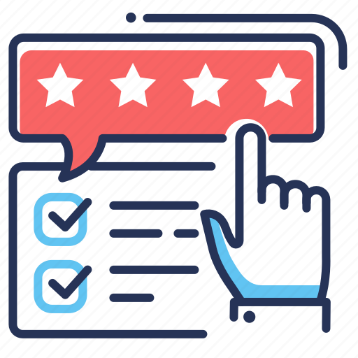 checklist, feedback, rating, stars icon