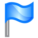 flag, marker icon