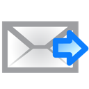 email, envelope, forward, right icon