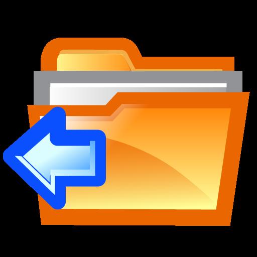 folder, left icon