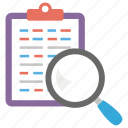 article research, content research, content searching, document searching, finding information icon