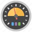 measuring scale, odometer, speed control, speed measurement, speed meter icon