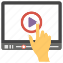 online video, video playing, video streaming, video tutorials, watching video