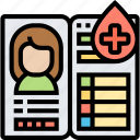 blood, donor, card, profile, record