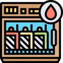 fridge, storage, container, temperature, control icon