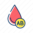 ab, blood, charity, donorship, drop, group, transfusion icon