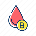 b, blood, charity, donorship, drop, group, transfusion icon