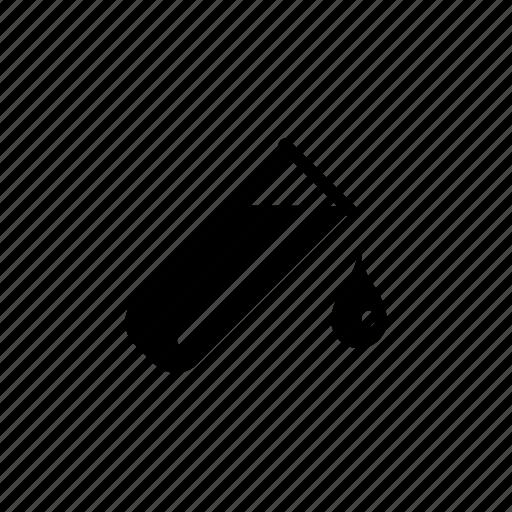 blood drip lab medical sample test tube icon