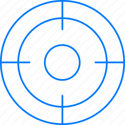 market, target, weapon icon