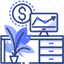 business, office, workplace, analyses icon