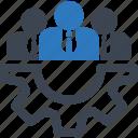 business, expert, finance, management, specialist, support, team icon
