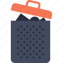 basket, bin, can, garbage, interface, miscellaneous, trash icon