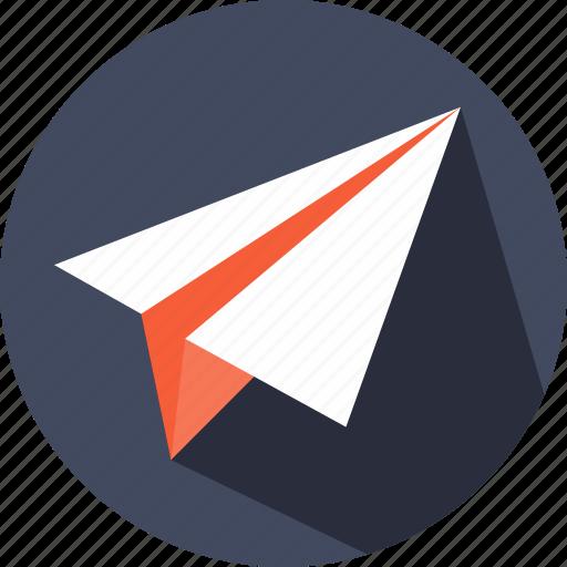 communications, interface, messages, plane, send, sending icon