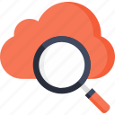 cloud, cloudy, search, sky, weather icon