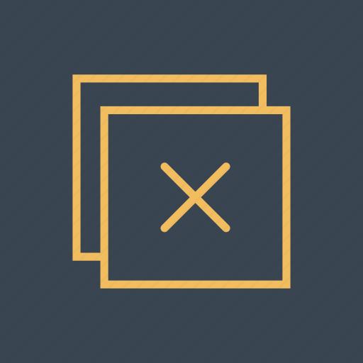 close, cross, error, forbidden, interface, prohibition, signs icon