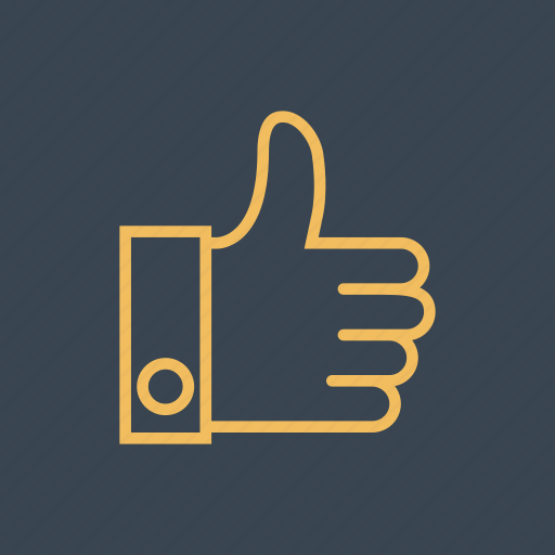 finger, gestures, good, hands, like, thumb, up icon