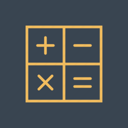 calculating, calculator, education, finance, maths, technological, technology icon