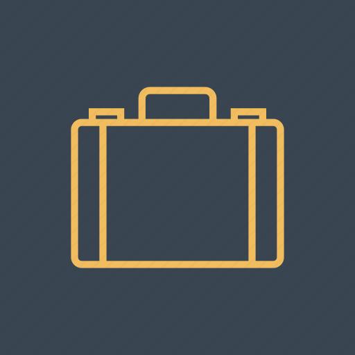 briefcase, case, luggage, suitcase, travel icon