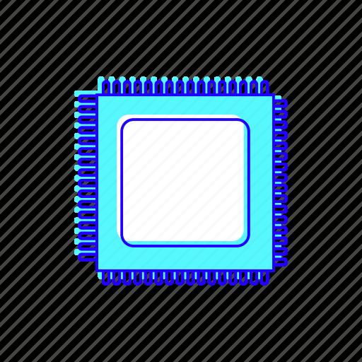 cpu, performance, processor, technology icon